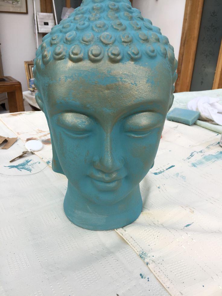 Buddha head by Peppershells Vintage, Etsy