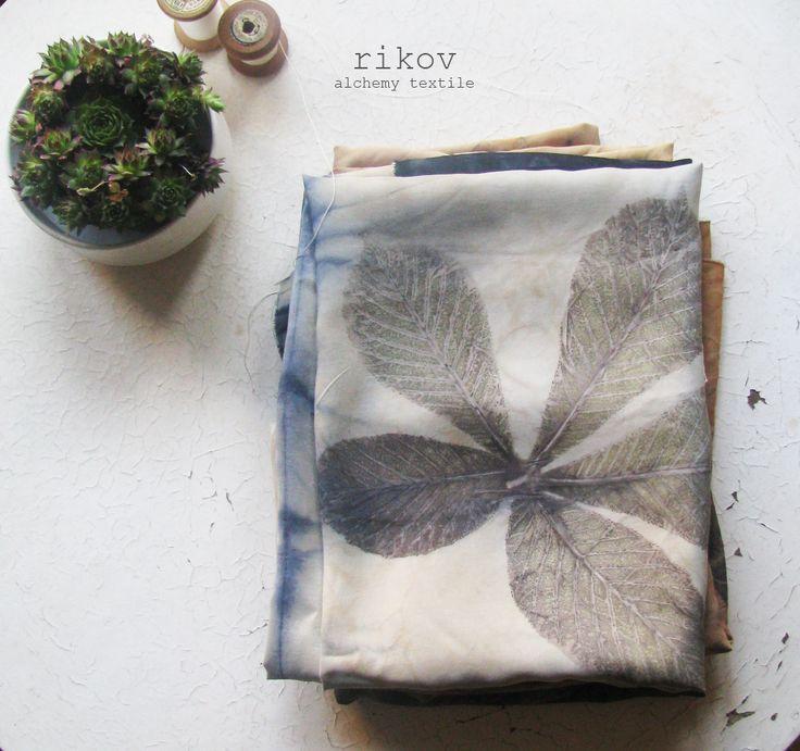 Rikov eco print textile  www.facebook.com/Rikovi