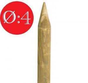 PALI IN LEGNO DI PINO NORDICO TORNITI IMPREGNATI- TRATTATI CLASSE III - DIAMETRO: 4cm - H150cm