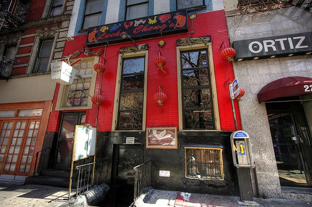Lucky Cheng's....NYC....one and only.  Drag queens, Chinese food and comedy galore.