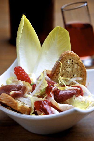 Recept witloofsalade met gerookte eendenfilet