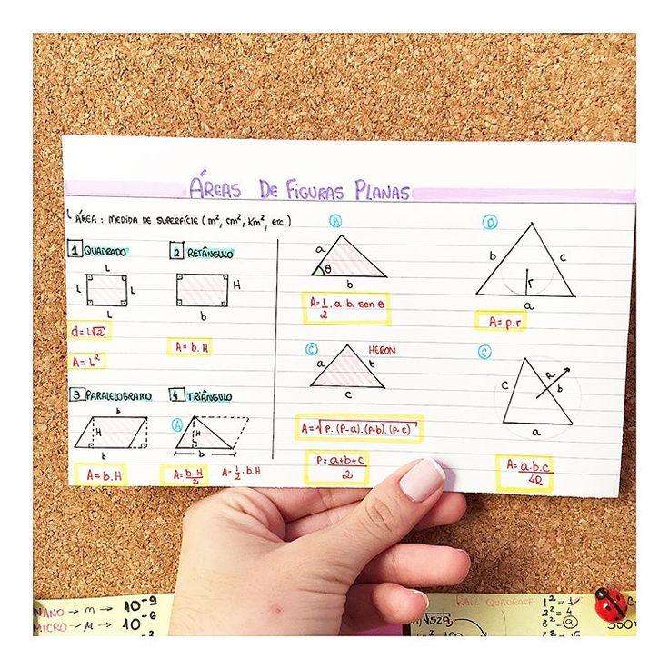 MATEMÁTICA - ÁREAS DE FIGURAS PLANAS #resumosonhodamedicina #resumos #matematica