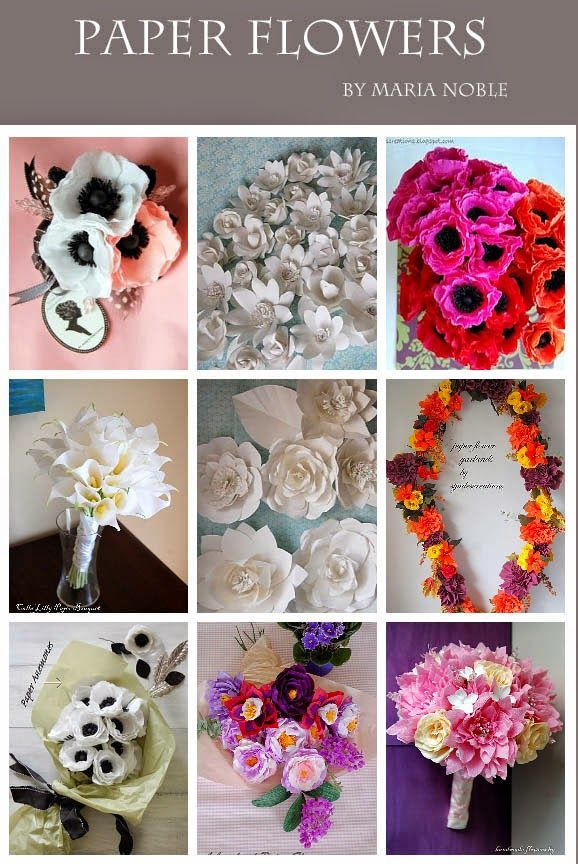chanel fashion show inspired huge large paper flower wall | Paper Flowers Tutorials by Maria Noble