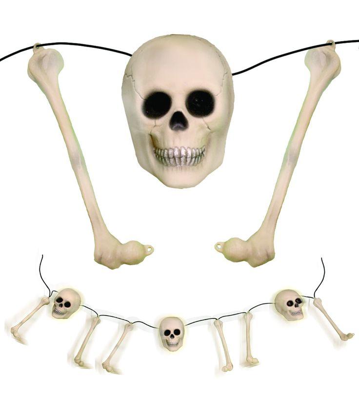 Rattling Bones Animated Halloween Prop