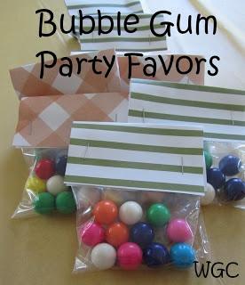 Bubble Gum Party Favors | Wayward Girls' Crafts