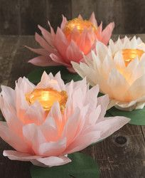 DIY paper flower luminaries. Perfect for a sangeet party. Very clever and so simple to make. | The Maharani Diaries