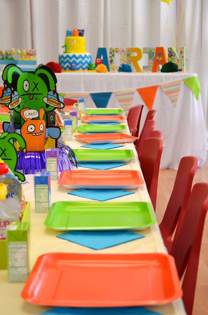 Colorful Monster Themed 1st Birthday Party - Pretty My Party