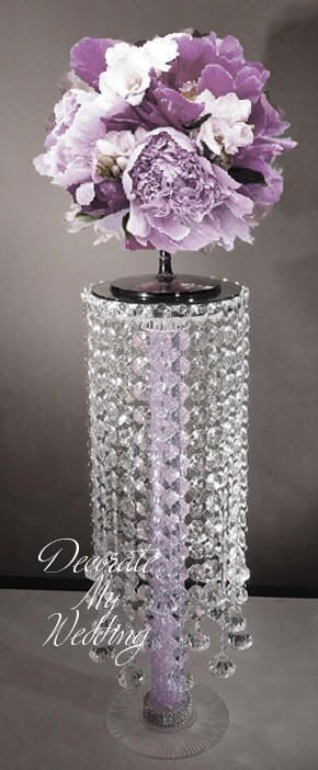 Diamond Based Table Center Pieces Crystal Centerpiece