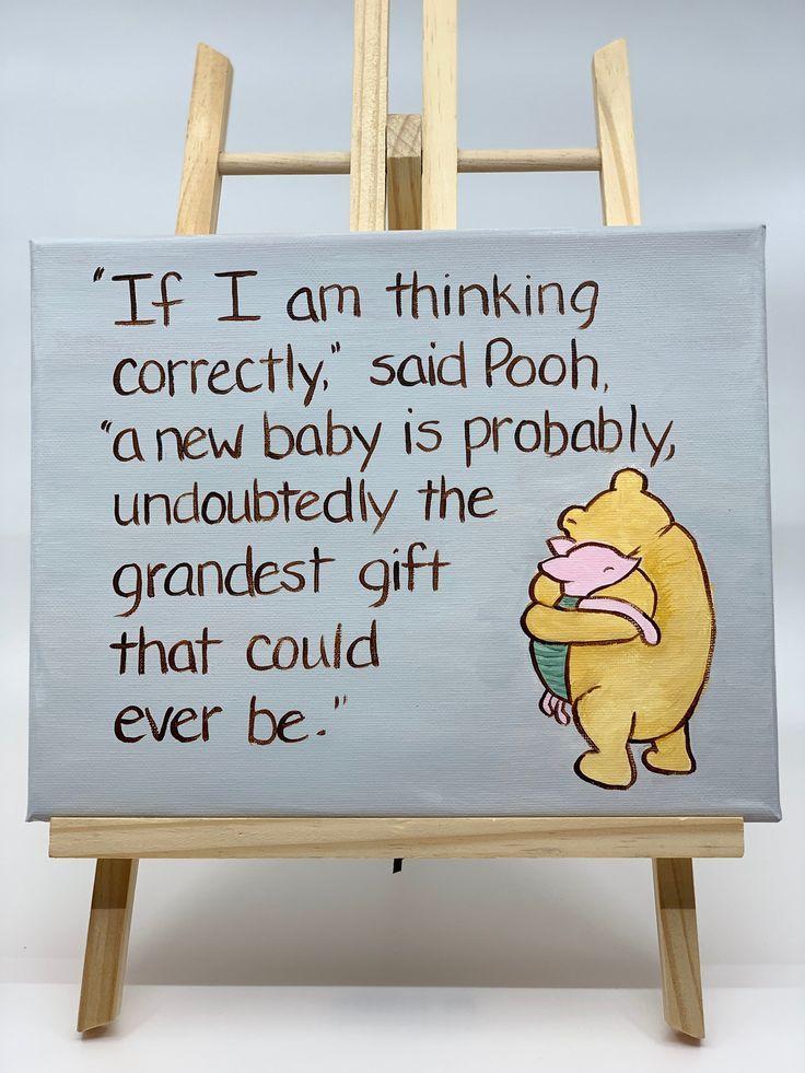 Winnie the Pooh neue Baby Leinwand Malerei, Classic Pooh