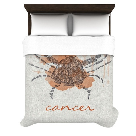 "Belinda Gillies ""Cancer"" Duvet Cover    $169.00"