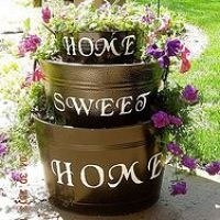 Old Galvanized tubs I turned into a planter