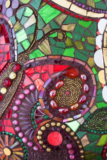 rich colors, texture mosaic
