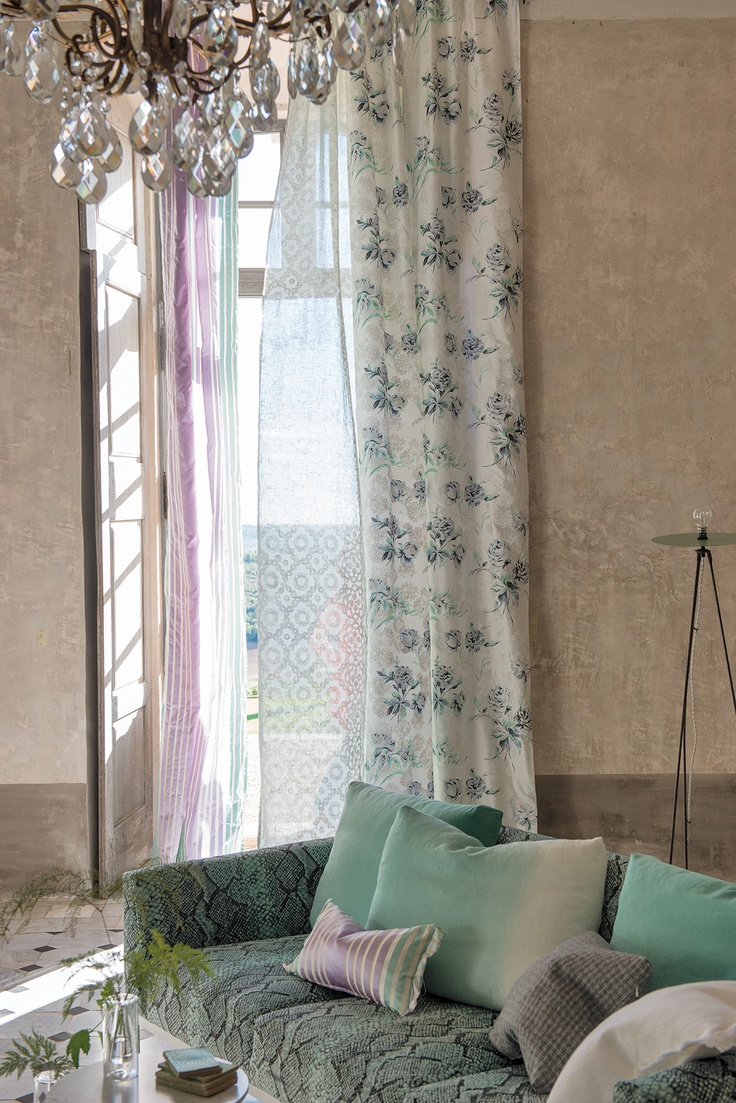 Freya Fabric in chalky pale Jade