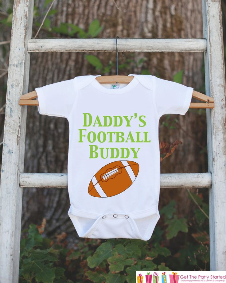 Baby Boy Football Outfit - Novelty Football Bodysuit - Football Baby Shower Gift For Boys - Football Bodysuit - Daddy's Football Buddy Shirt