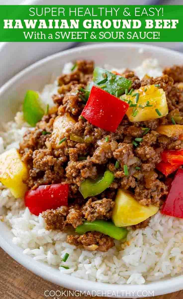Ground Hawaiian Beef Recipe Beef Recipes For Dinner Healthy Ground Beef Stuffed Peppers