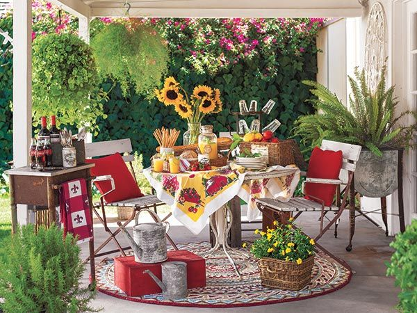 Create A French Country Patio Country Patio Summer