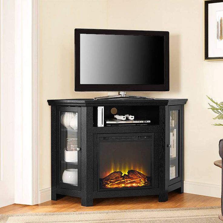 17 Best Ideas About Corner Fireplace Tv Stand On Pinterest