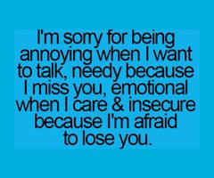 Yeah Thats True Im Sorry For Everything I Knew I Lost You A Long