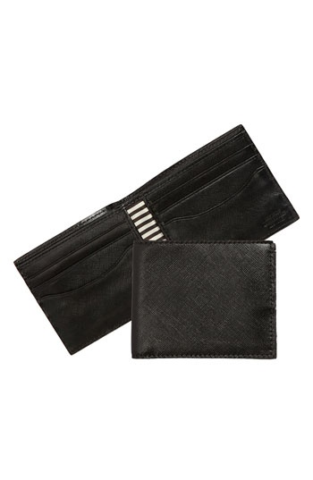 Jack Spade Crosshatched Leather Billfold Wallet available at #Nordstrom