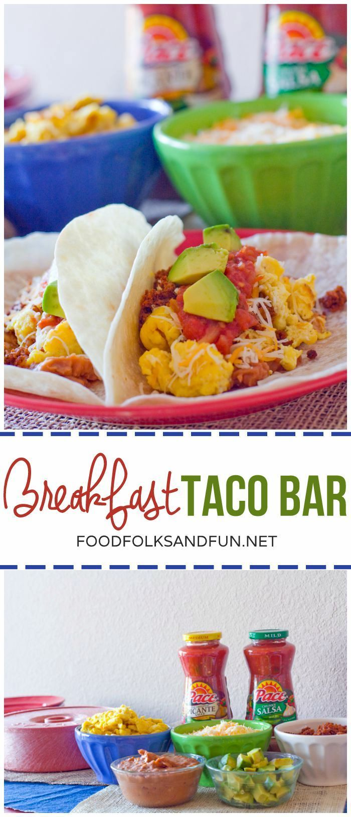 This Breakfast Taco Bar is my secret weapon for out of town guests or hosting early morning college football games!  #StockUpOnPace #Vons [ad]