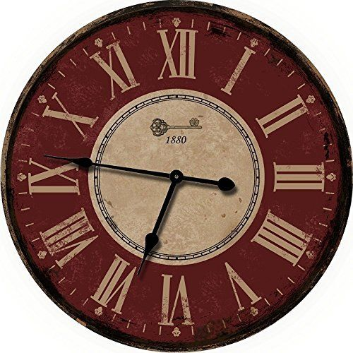Red Large Wall Clock - Oversized Wall Clocks