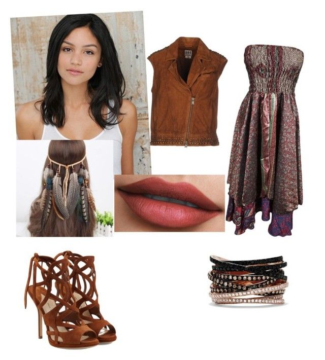 """Untitled #377"" by queen-olmos on Polyvore featuring Paul Andrew, Haute Hippie and Effy Jewelry"