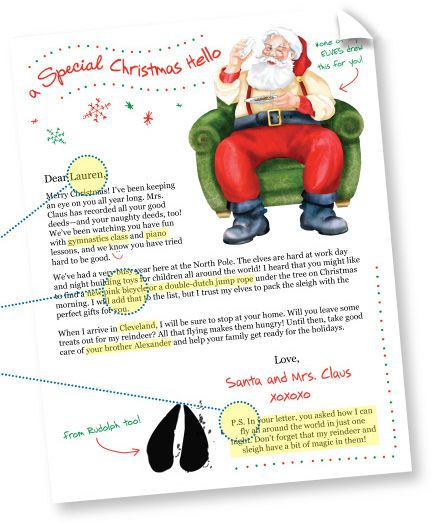 letter about santa claus the world s catalog of ideas 9900
