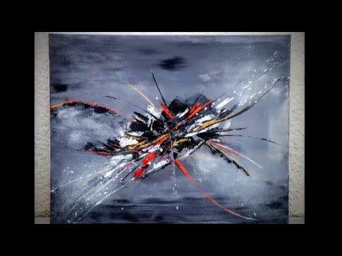 demonstration vidéo HD YouTube peinture abstraite acrylique shadingart - YouTube