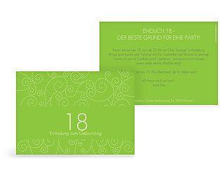 Uitnodigingen voor uw 18e verjaardag: verjaardagsuitnodigingen zelf ontwerpen.