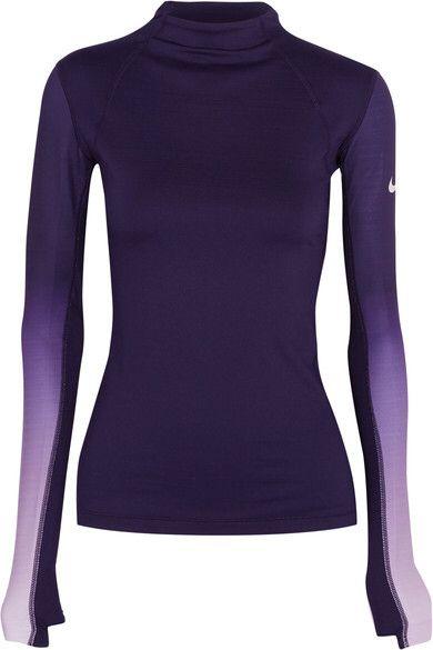 Nike - Pro Hyperwarm Ombré Dri-fit Stretch-jersey Top - Purple