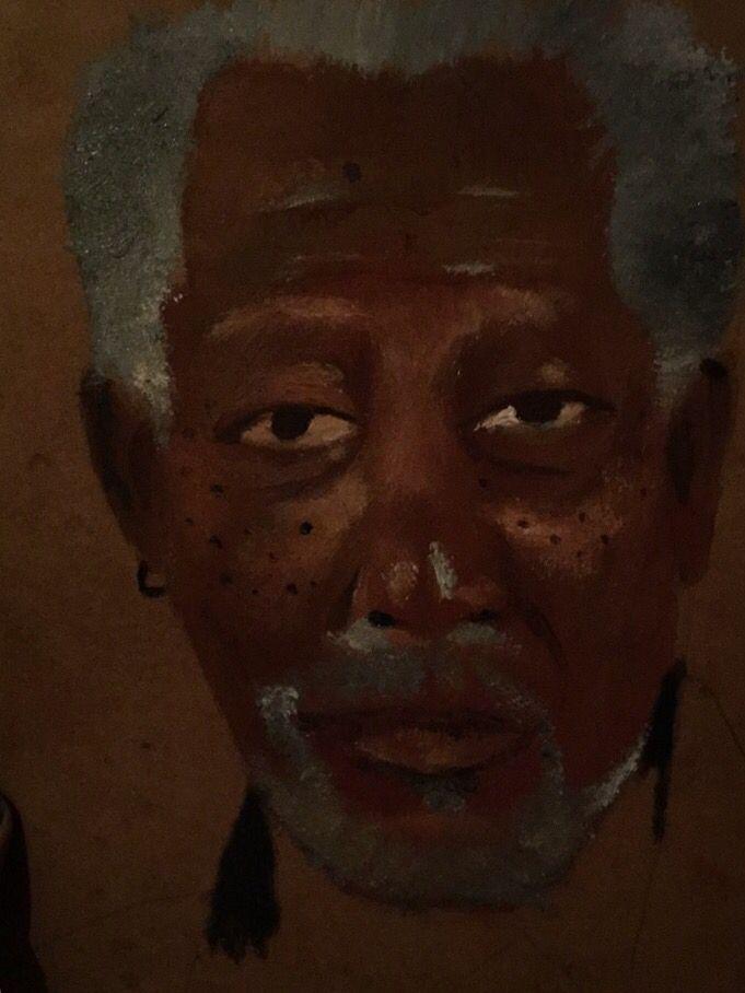 Morgan freeman oil paint