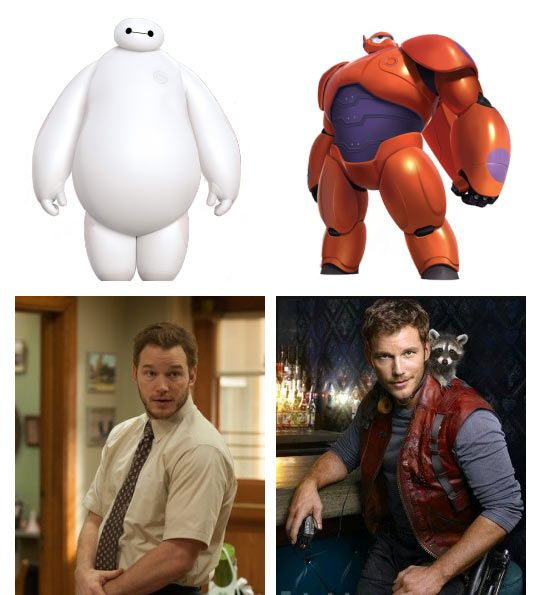 Chris Pratt / Baymax transformation