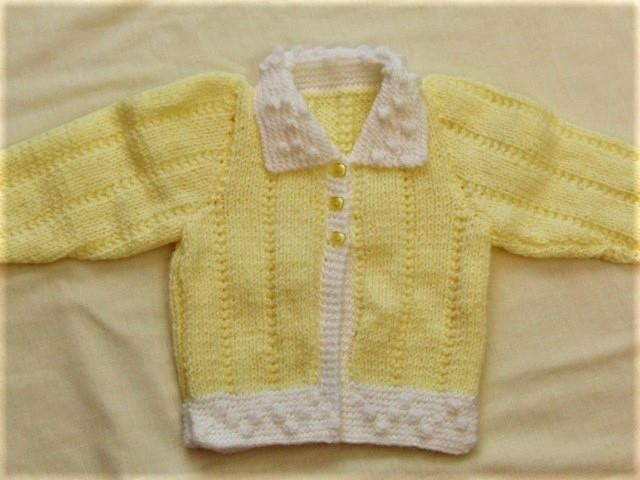 Excited to share the latest addition to my #etsy shop: Hand Knitted Yellow and White Baby Cardigan http://etsy.me/2E3mhGI #babyclothes #knittedbabycardigan #newbabygift #babyshowergift #creationsfortinytots #yellowbabycardigan #babyaccessories #babycardigan