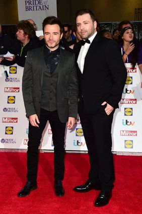 Shane Filan and Markus Feehily (right) arriving for The Pride of Britain Awards 2015, at Grosvenor House, Park Lane, London.