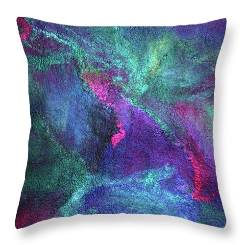 Russian Artists New Wave Throw Pillow featuring the photograph Aurora Borealis Lights by Marina Shkolnik  #MarinaShkolnik #HomeDecor #InteriorDesign #Pillow #Cushion #RussianArtistsNewWave