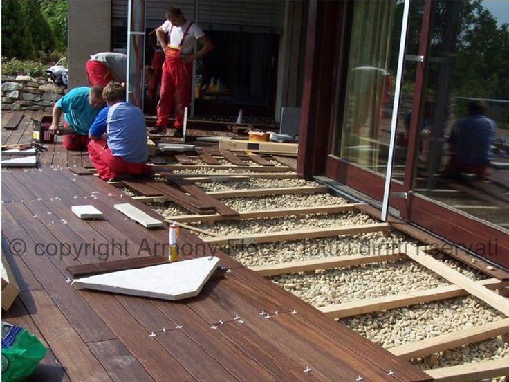 Pavimenti per giardini esterni mattonelle in legno per esterno