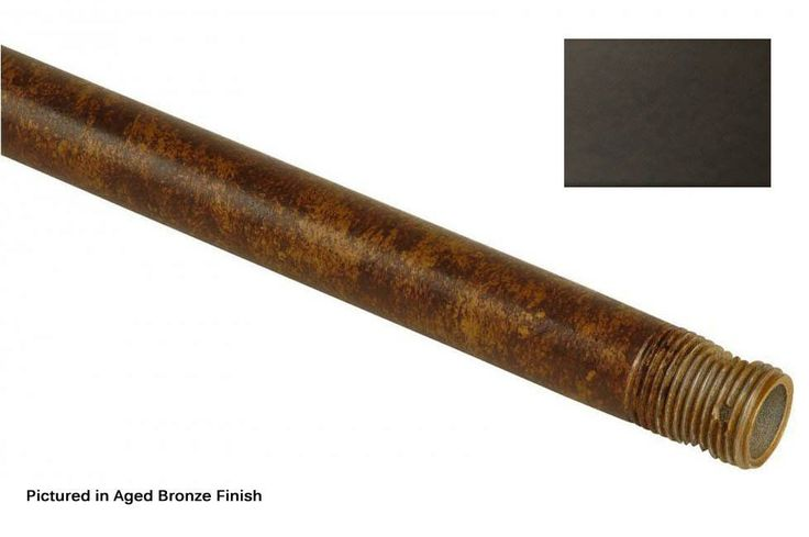 Craftmade DRT12 12 Inch Downrod for Craftmade Ceiling Fans Oiled Bronze Ceiling Fan Accessories Downrods Downrods