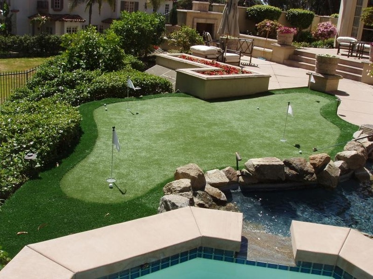 Combo backyard putting green by pool/hot tub - 11 Best Backyard Putt Putt Images On Pinterest Backyard Putting