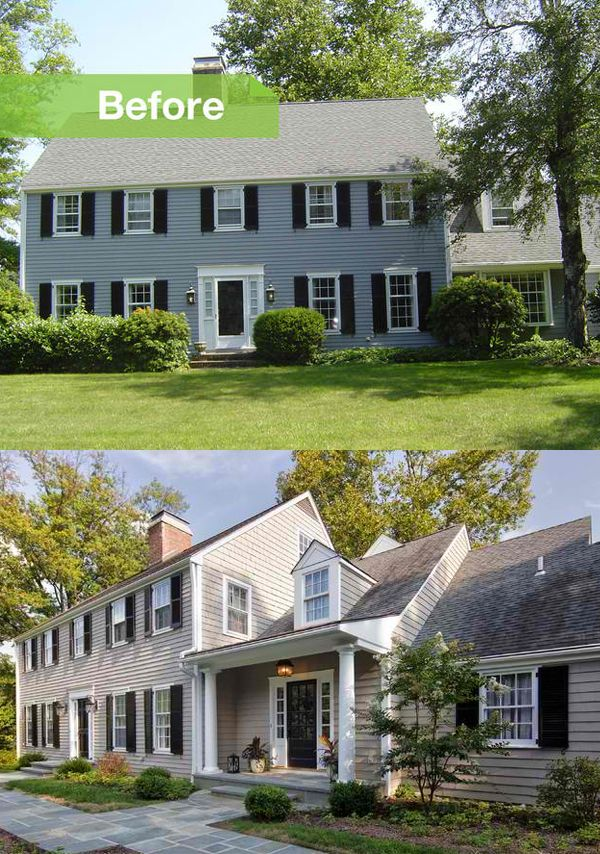 Home Exteriors Before And After Style Interesting Best 25 Colonial House Remodel Ideas On Pinterest  Colonial . Review