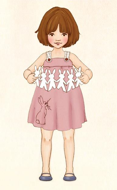 Not vintage but good for paper doll inspiration. Illustration by Mandy Sutcliffe