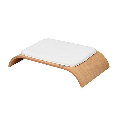 Pawhut 27 Midcentury Modern Pet Bed  BurlywoodWhite >>> To view further for this item, visit the image link.