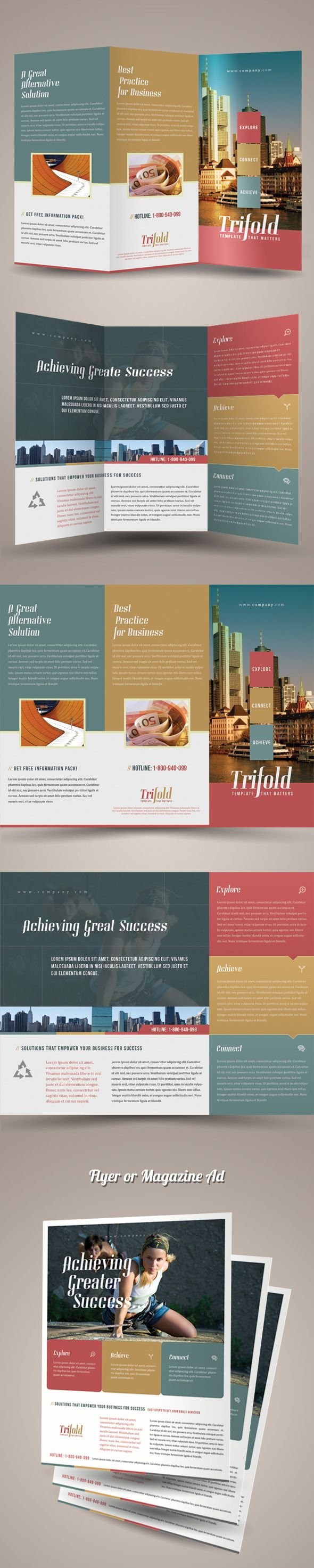 Trifold Brochure Template by Kinzi Wij, via Behance