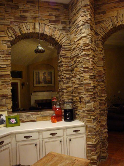 rock backsplash for kitchen | rock wall kitchen - kitchen designs