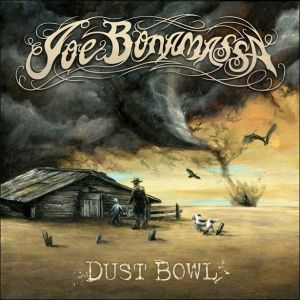 I love this Joe Bonamassa album cover based on an iconic Great Depression photograph. The twister is amazing and the crows add a particular imagery too. If you can stop admiring the artwork long enough to put th cd in the player, it's a good album of music too, especially 'Slow Train'.