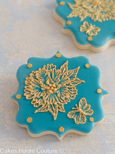 Brush embroidery cookies / Galletas bordadas con glasa real