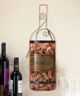 Hanging Wine Cork Holder Bottle Shape Wall Decor For Vino Lovers  [SM303105 1WKH]