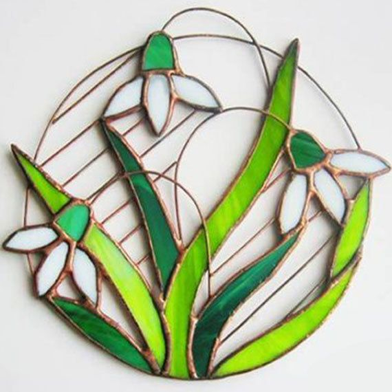 Stained glass suncather will be an interesting souvenir gift for you and your friends. Souvenir is made from colored stained glass and copper wire.Flowers can be hung on a wall or window. Care stained glass simple. Wipe panel liquid for glass. If you want to send this item as a gift to someone just leave me a note when placing your order, I can add a simple greeting card with your wishes to the package for free. Size: 6 x 6 in (15 x 15 cm). __________________ Packing Stained glass will be…
