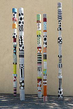 Sally Russell Totem Sculptures www.sculpturesite.com/SALLYRUSSELL_Art.cfm?ArtistsID=199&NewID+5387