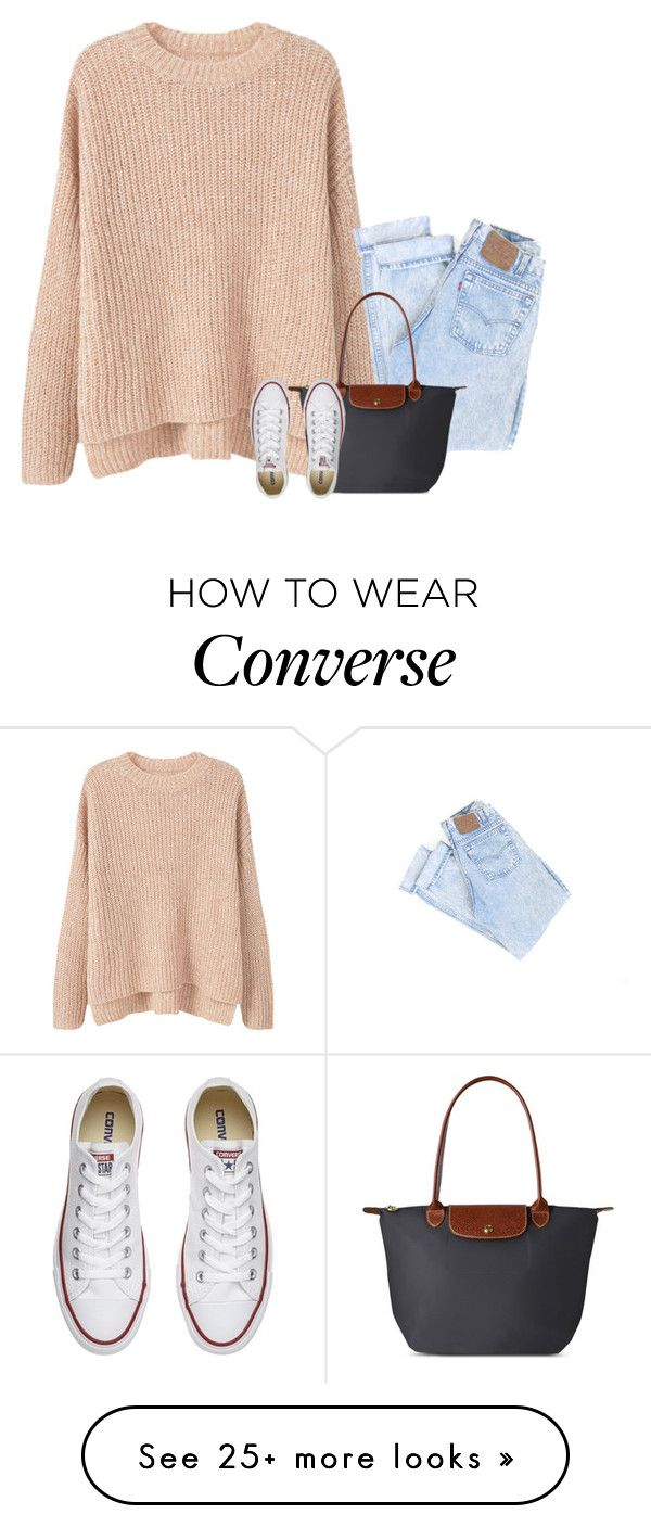 """omg srry I haven't been on in forever but BIG NEWS read d"" by lillynelsonn on Polyvore featuring MANGO, Longchamp and Converse"