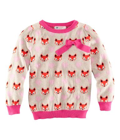 cute: Kids Style, Foxes Prints, For Kids, Kids Fashion, Foxes Sweaters, Baby Girl, Kids Baby, Baby Clothing, Girls Foxes